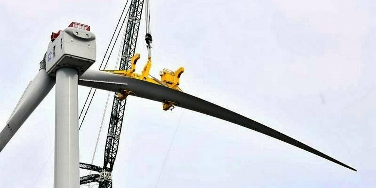 世界最大風機葉片!Haliade-X 12MW風電葉片吊裝成功1.jpg